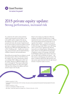 2015 private equity update