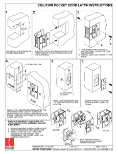 330L/330M Pocket Door Latch Instructions