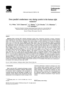 Does parallel conductance vary during systole in the human right