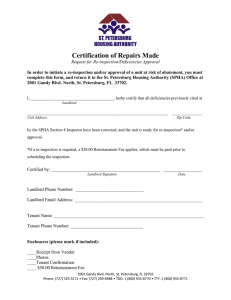 Certification of Repairs Made form
