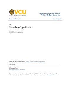 Decoding Cigar Bands - VCU Scholars Compass
