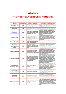 What are THE MOST DANGEROUS E-NUMBERS