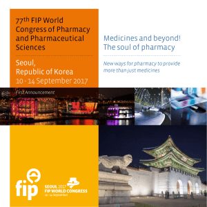 77th FIP World Congress of Pharmacy and Pharmaceutical