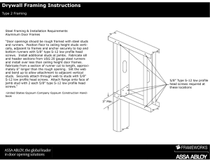 Drywall Framing Instructions