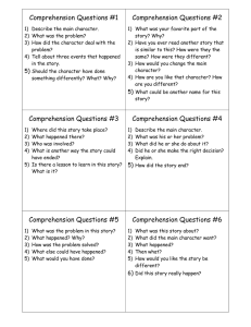 Comprehension Questions #1 Comprehension Questions #2