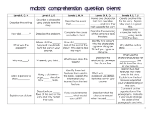 mclass comprehension question stems