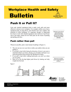 Push It or Pull It? (Safety Bulletin ERG033)