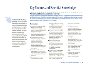 Key Themes and Essential Knowledge