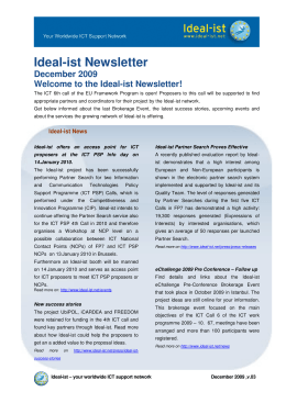 Ideal-ist Newsletter