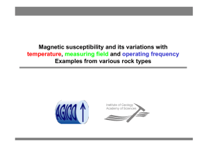 Magnetic susceptibility and its variations with temperature