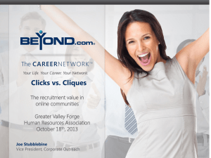 Clicks vs. Cliques - Greater Valley Forge Human Resources
