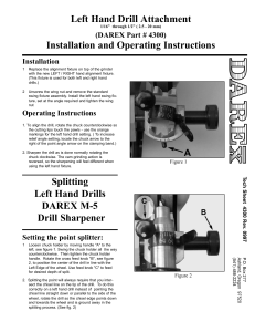 Left Hand Drill Attachment — 4300 Manual