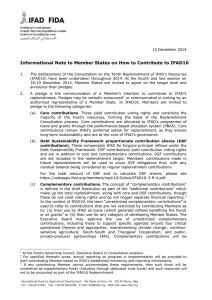 Informational Note to Member States on How to Contribute to IFAD10