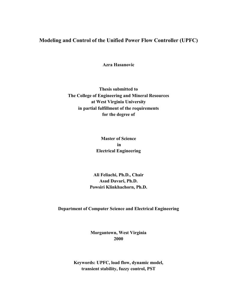 upfc phd thesis