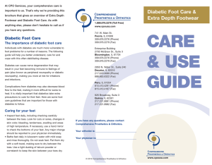 Diabetic Foot Care and Extra Depth Footwear