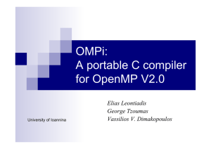 OMPi - A portable C compiler for OpenMP V.2.0