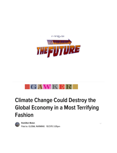 Climate Change Could Destroy the Global Economy in a Most