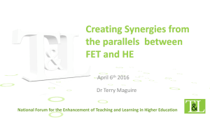 Creating Synergies from the parallels between FET and HE