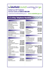 A-Z of Key Telephone Numbers