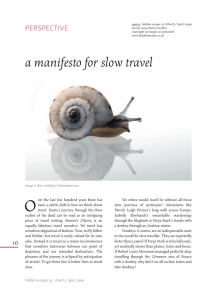 a manifesto for slow travel