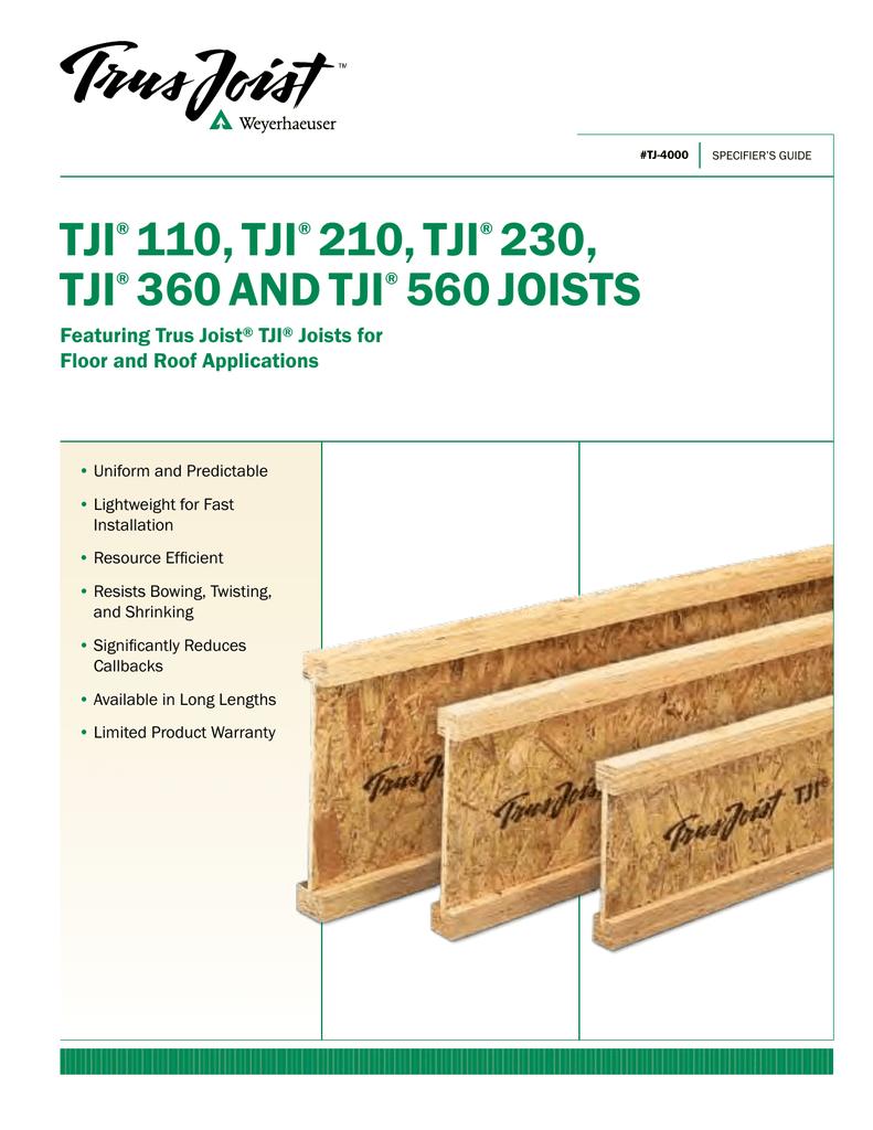 Tji 560 Floor Joists Carpet Vidalondon