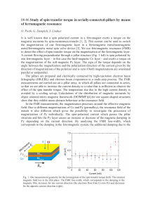 08-06 Study of spin transfer torque in serially-connected