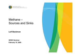 Atmospheric methane: sources and sinks