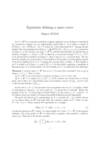 Equations defining a space curve