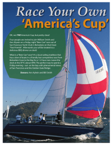 OK, not THE America`s Cup, but pretty close!