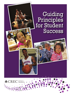 Guiding Principles for Student Success