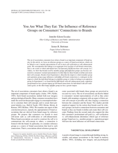 You Are What They Eat: The Influence of Reference Groups on