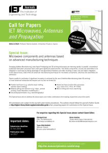 Call for Papers IET Microwaves, Antennas and Propagation