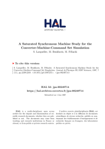 A Saturated Synchronous Machine Study for the Converter