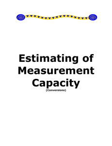 Estimating of Measurement Capacity