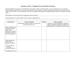 Extension Activity - Mapping Current and Future Practices