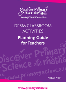 DPSM CLASSROOM ACTIVITIES Planning Guide for Teachers