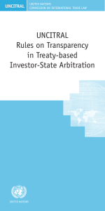 UNCITRAL Rules on Transparency in Treaty-based Investor