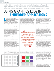 Graphics LCDs are increasingly being used in