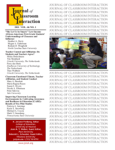 Full Issue Download, Vol 46.1 - Journal of Classroom Interaction
