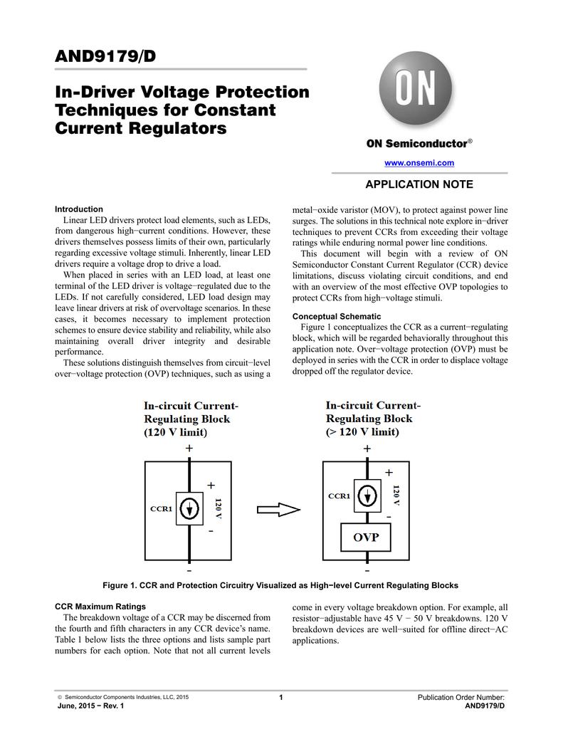 In Driver Voltage Protection Technique Constant Current Regulators And Regulator Circuit