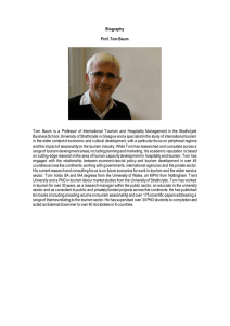 Biography Prof. Tom Baum Tom Baum is a Professor of International