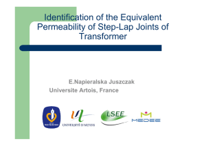 Identification of the Equivalent Permeability of Step