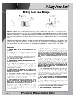 O-Ring Face Seal - Pressure Connections Corp