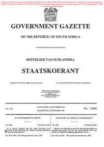 Fire Brigade Services Act - South African Government