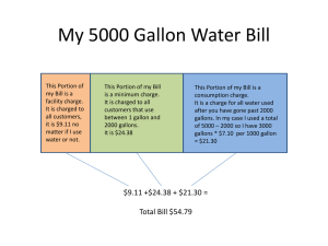 My 5000 Gallon Water Bill