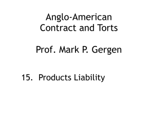 15. Products Liability (Session 6)