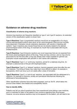 Guidance on adverse drug reactions