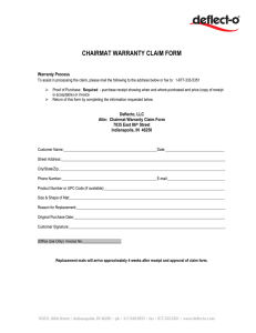 chairmat warranty claim form