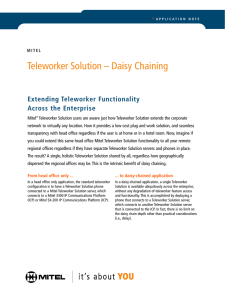 Teleworker Solution – Daisy Chaining
