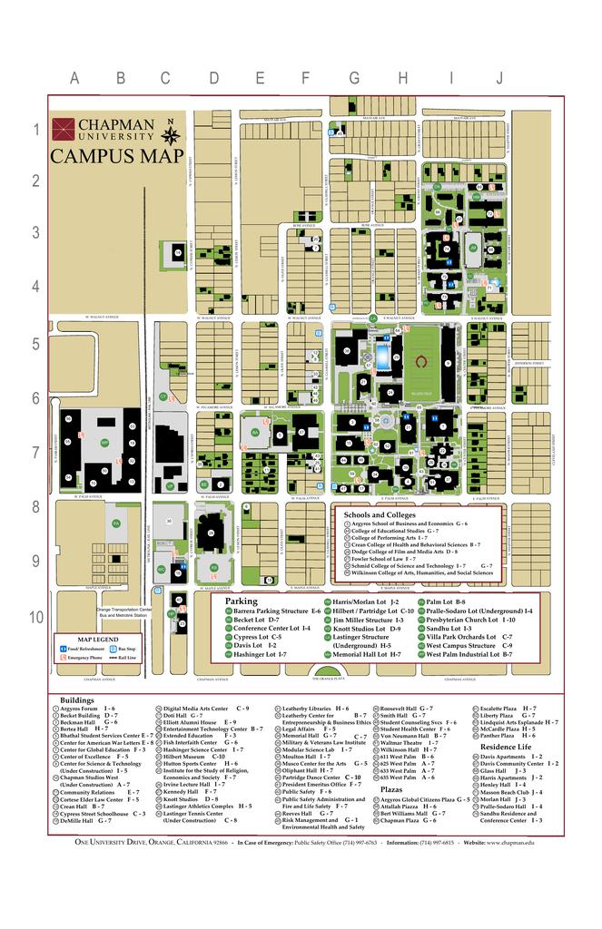 11x17 Campus Chapman University